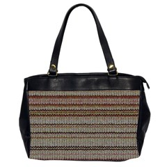 Stripy Knitted Wool Fabric Texture Office Handbags (2 Sides)