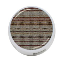 Stripy Knitted Wool Fabric Texture 4 Port Usb Hub (one Side)