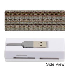 Stripy Knitted Wool Fabric Texture Memory Card Reader (stick)