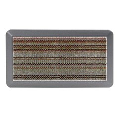 Stripy Knitted Wool Fabric Texture Memory Card Reader (Mini)