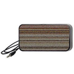 Stripy Knitted Wool Fabric Texture Portable Speaker (black)
