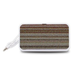 Stripy Knitted Wool Fabric Texture Portable Speaker (white)
