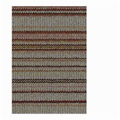 Stripy Knitted Wool Fabric Texture Small Garden Flag (Two Sides)