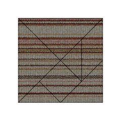Stripy Knitted Wool Fabric Texture Acrylic Tangram Puzzle (4  X 4 )