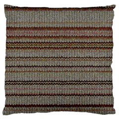 Stripy Knitted Wool Fabric Texture Large Cushion Case (One Side)