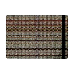 Stripy Knitted Wool Fabric Texture Apple iPad Mini Flip Case