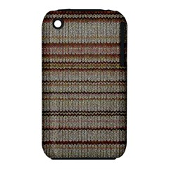 Stripy Knitted Wool Fabric Texture iPhone 3S/3GS