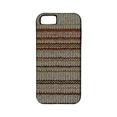 Stripy Knitted Wool Fabric Texture Apple Iphone 5 Classic Hardshell Case (pc+silicone)
