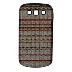 Stripy Knitted Wool Fabric Texture Samsung Galaxy S Iii Classic Hardshell Case (pc+silicone)