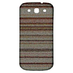 Stripy Knitted Wool Fabric Texture Samsung Galaxy S3 S Iii Classic Hardshell Back Case