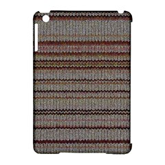 Stripy Knitted Wool Fabric Texture Apple iPad Mini Hardshell Case (Compatible with Smart Cover)