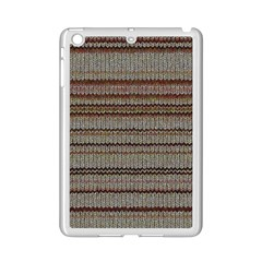 Stripy Knitted Wool Fabric Texture Ipad Mini 2 Enamel Coated Cases