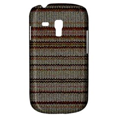 Stripy Knitted Wool Fabric Texture Galaxy S3 Mini