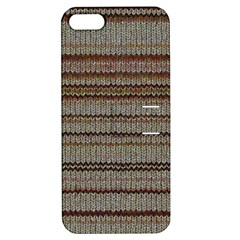 Stripy Knitted Wool Fabric Texture Apple iPhone 5 Hardshell Case with Stand