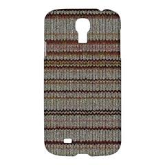 Stripy Knitted Wool Fabric Texture Samsung Galaxy S4 I9500/i9505 Hardshell Case
