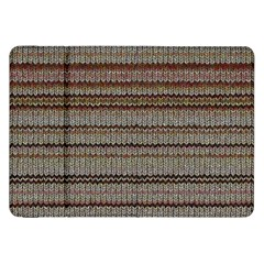 Stripy Knitted Wool Fabric Texture Samsung Galaxy Tab 8 9  P7300 Flip Case