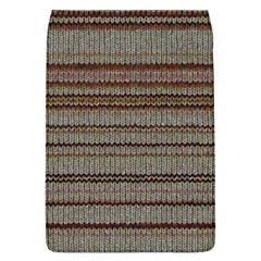 Stripy Knitted Wool Fabric Texture Flap Covers (L)