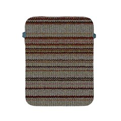 Stripy Knitted Wool Fabric Texture Apple iPad 2/3/4 Protective Soft Cases