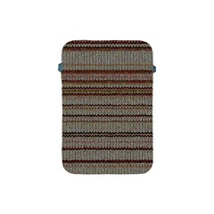 Stripy Knitted Wool Fabric Texture Apple iPad Mini Protective Soft Cases