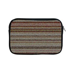 Stripy Knitted Wool Fabric Texture Apple Ipad Mini Zipper Cases
