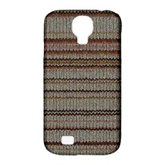 Stripy Knitted Wool Fabric Texture Samsung Galaxy S4 Classic Hardshell Case (pc+silicone)