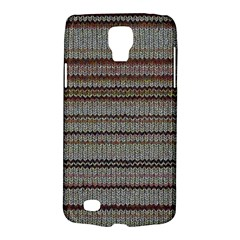 Stripy Knitted Wool Fabric Texture Galaxy S4 Active