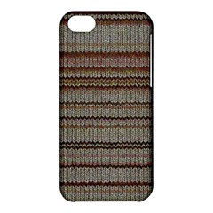 Stripy Knitted Wool Fabric Texture Apple Iphone 5c Hardshell Case