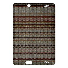 Stripy Knitted Wool Fabric Texture Amazon Kindle Fire HD (2013) Hardshell Case