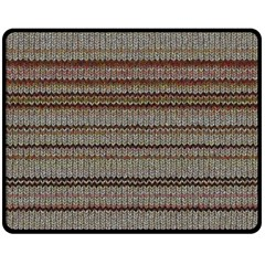 Stripy Knitted Wool Fabric Texture Double Sided Fleece Blanket (medium)