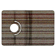 Stripy Knitted Wool Fabric Texture Kindle Fire Hdx Flip 360 Case
