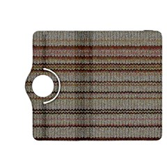 Stripy Knitted Wool Fabric Texture Kindle Fire Hdx 8 9  Flip 360 Case