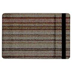 Stripy Knitted Wool Fabric Texture iPad Air Flip