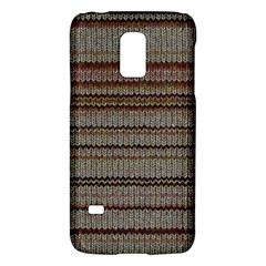 Stripy Knitted Wool Fabric Texture Galaxy S5 Mini