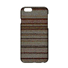 Stripy Knitted Wool Fabric Texture Apple Iphone 6/6s Hardshell Case