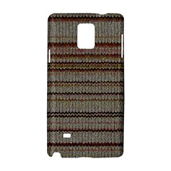 Stripy Knitted Wool Fabric Texture Samsung Galaxy Note 4 Hardshell Case