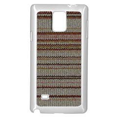 Stripy Knitted Wool Fabric Texture Samsung Galaxy Note 4 Case (white)