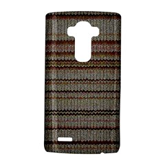 Stripy Knitted Wool Fabric Texture LG G4 Hardshell Case
