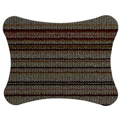 Stripy Knitted Wool Fabric Texture Jigsaw Puzzle Photo Stand (bow)
