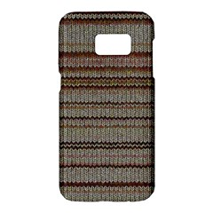Stripy Knitted Wool Fabric Texture Samsung Galaxy S7 Hardshell Case