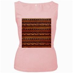 Aztec Pattern Women s Pink Tank Top
