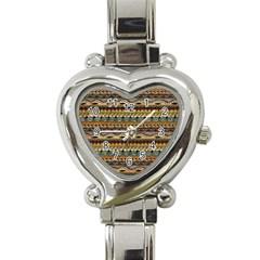 Aztec Pattern Heart Italian Charm Watch