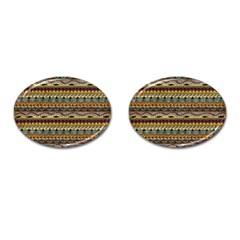 Aztec Pattern Cufflinks (oval)