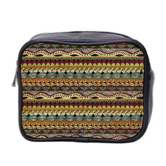 Aztec Pattern Mini Toiletries Bag 2 Side