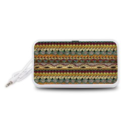 Aztec Pattern Portable Speaker (White)