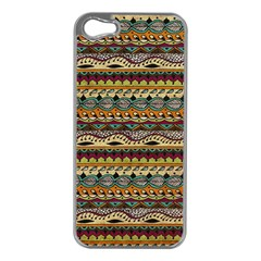 Aztec Pattern Apple Iphone 5 Case (silver)