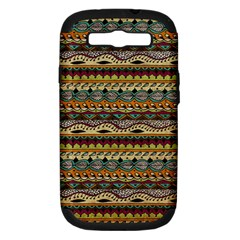 Aztec Pattern Samsung Galaxy S Iii Hardshell Case (pc+silicone)