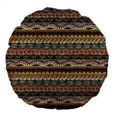 Aztec Pattern Large 18  Premium Round Cushions