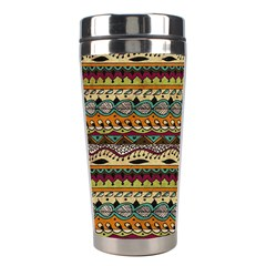 Aztec Pattern Stainless Steel Travel Tumblers