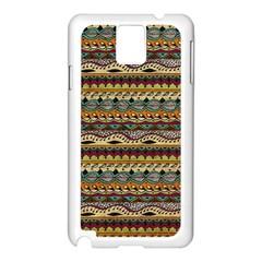 Aztec Pattern Samsung Galaxy Note 3 N9005 Case (white)