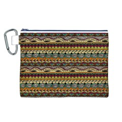 Aztec Pattern Canvas Cosmetic Bag (L)